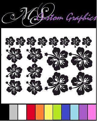 18 x Hawaiian Flowers A4 Vinyl Sticker Sheet, Car, Window, Wall Art, 11 Colours