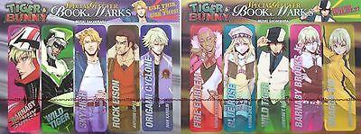 Tiger & Bunny Promo Special Glitter Bookmark Set of 10 Kotetsu Barnaby Sky High