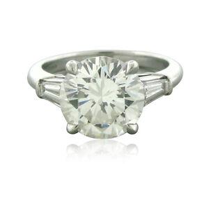 TIFFANY & CO PLATINUM 4.26ct I / VVS1 DIAMOND ENGAGEMENT ...