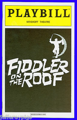 Playbill + Fiddler on the Roof + Randy Graff , Alfred Molina , Lea Michele, GLEE
