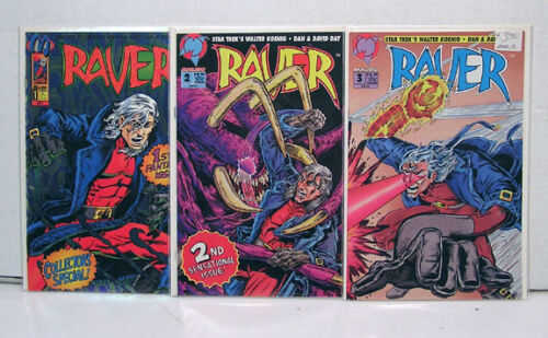 1990s Raver Set of 3 Comic BookWalter Koenig Malibu L5908CCNV