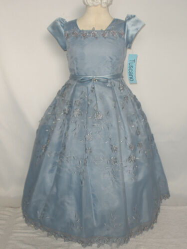 Girl Pageant Wedding Recital Photo Formal Party Dress size: 6 8 10 12 P.Blue