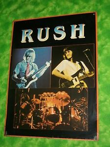 VINTAGE-1982-RUSH-Rock-Band-Stiff-Metal-Poster-Sign