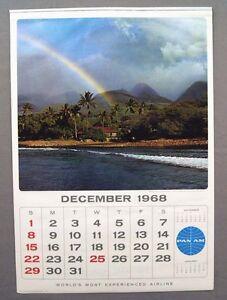 Vintage 1969 2025 Pan Am Airlines Large Format Calendar | eBay