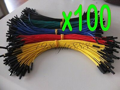 100pcs 5 colors 20cm Dupont wire cable 1p-1p pin connector For Arduino DIY Board