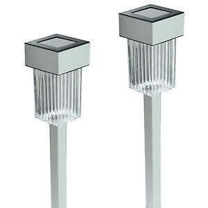 New-24-Pack-Aluminum-Outdoor-White-LED-Solar-Landscape-Path-Lights-Yard-Lamp