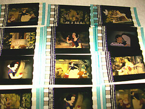 SNOW-WHITE-animation-film-cell-lot-of-12-collection-movie-dvd-memorabilia-Disney