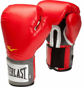 EVERLAST-Pro-Style-Training-Boxing-Pair-Gloves-Size-10-oz-RED-BOXING-BAG-MMA-NEW