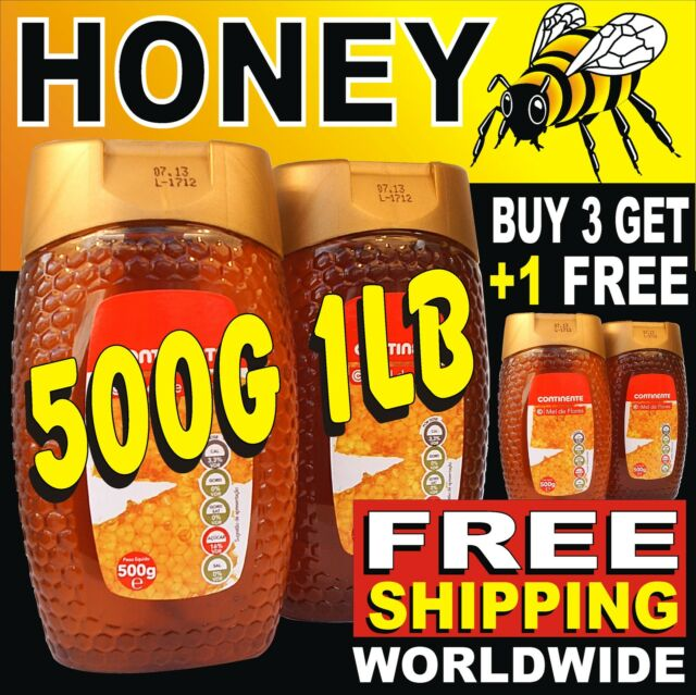 500g/17.6oz Quality BLOSSOM FLOWER HONEY FREE SHIP Worldwide (BUY 3 GET +1 FREE)