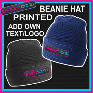 X20-BEANIE-HATS-PERSONALISED-WITH-YOUR-OWN-LOGO-TEXT-BUSINESS-WORK-WEAR