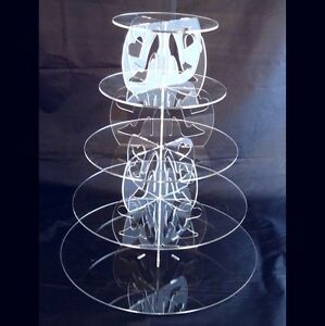 Five-Tier-Round-Acrylic-High-Heels-amp-Hearts-Wedding-amp-Party-Cake-Stand