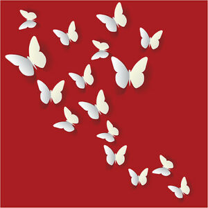 D Butterfly Wall Stickers Wall Decors Wall Art Wall - Butterfly wall decals 3d