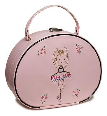 Girls Pink Ballet Ballerina Dance Hand Vanity Case Bag By Katz Dancewear KB39