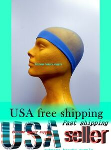 sky-blue-Man-boy-BREATHABLE-Elastic-STOCKING-WAVE-NYLON-Skull-beanie-Cap-hat