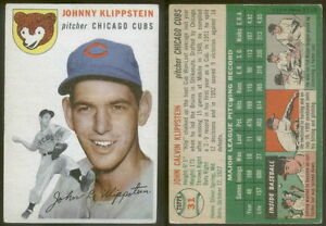 5503-1954-Topps-31-Johnny-Klippstein-Cubs-VG