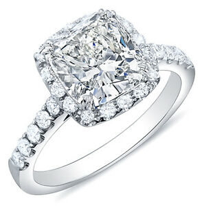 1-52-Ct-Cushion-Cut-w-Halo-Pave-Round-Diamond-14K-Engagement-Ring-I-VVS1-EGL