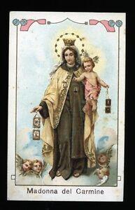 034-MADONNA-del-Carmine-034-Imprimatur-by-Casa-Editrice-Mediolani-1913