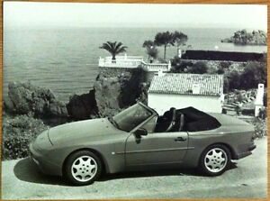 PORSCHE-944-S2-CABRIO-PRESS-PHOTOGRAPH-CIRCA-1990-BLACK-WHITE