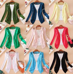 Women-Lace-Sweet-Cute-Out-Crochet-Knit-Blouse-Top-Coat-Flower-Sweater-Cardigan