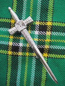 NEW Celtic Sword (Chrome Finish) Kilt Pin Accessory for Kilts