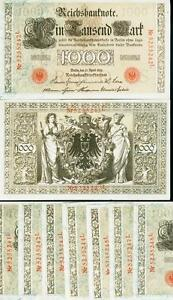GERMANIA-GERMANY-REICHSBANKNOTE-1-000-MARK1910-ROSSO-FDS