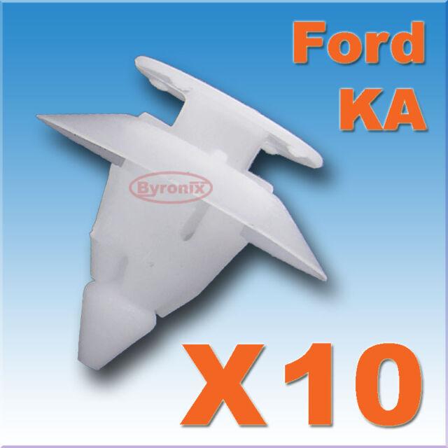 10X FORD KA BUMPER FIXING FASTENER PLASTIC TRIM CLIPS FRONT REAR