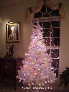 WHITE Art Deco Alaska Christmas Tree 6.5' Pre-lit Multi color ...