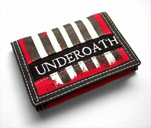UNDEROATH-GRENADES-STRIPED-CANVAS-EMBROIDERED-TRIFOLD-WALLET-NEW-OFFICIAL