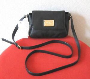 NWT-Michael-Kors-Jet-Set-Crossbody-Shoulder-Bag-Purse-Black-Genuine-Leather-128