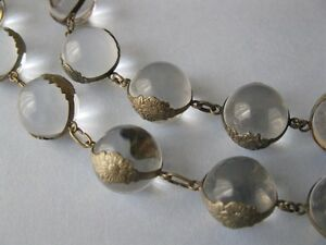 Vintage-1930s-Art-Deco-Pools-of-Light-Rock-Crystal-Sterling-Silver-Necklace