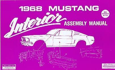 1968 68  FORD   MUSTANG INTERIOR ASSEMBLY MANUAL