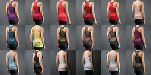 SUPER-SEXY-Women-Full-Lace-Racerback-Ribbed-Solid-TANK-TOP-Cami-Sleeveless-Shirt