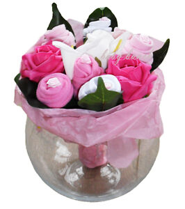 Ladies-Sock-Bouquet-includes-Small-Vase-Mothers-Gift-Mum-Nan-Friend-Sister-Aunt