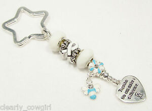 6176-WHITE-RIBBON-AWARENESS-CHARM-STERLING-925-SILVER-GLASS-BEADS-KEY-CHAIN