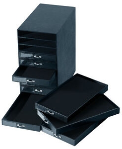 BLACK-JEWELRY-STORAGE-ORGANIZER-CARRYING-CASE-CABINET-10-DRAWER-NEW