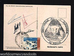 NEPAL-1980-MEXICO-UNIVERSITY-MOUNT-KANCHENJUNGA-EXPEDITION-SIGN-DARJEELING-CARD