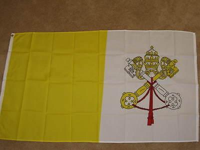 VATICAN FLAG 2X3 CATHOLIC POPE PAPAL CHRISTIAN NEW F328