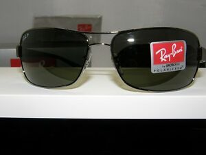 New-Authentic-Ray-Ban-Polarized-Sunglasses-RB-3379-004-58-RB3379
