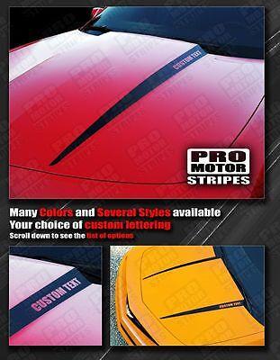 Chevrolet Camaro Hood Cowl Side Spear Stripes 2010 2011 2012 2013 SILVER