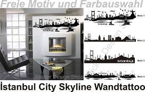 Istanbul Wandtattoo Aufkleber City Skyline Türkei Türkiye ...