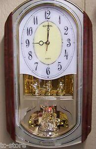 Guten-Quartz-Oblong-Rotating-Musical-Melody-Pendulum-Wall-Clock-Youngtown