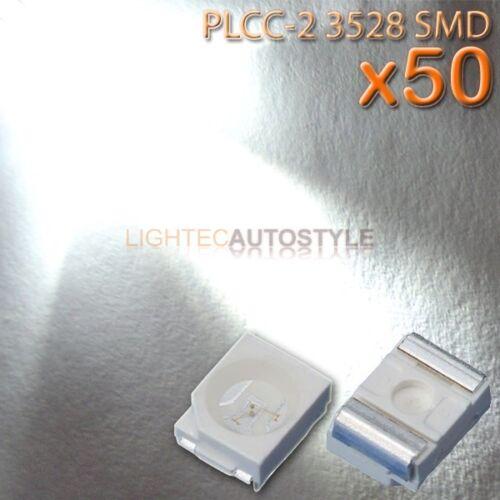 50x XENON WHITE 3528 PLCC-2 SURFACE MOUNT ULTRA BRIGHT LEDS PLCC2 SMT SMD