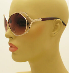 New-80-039-s-Vintage-Style-Oversized-Womens-Designer-Fashion-Gold-Large-Sunglasses