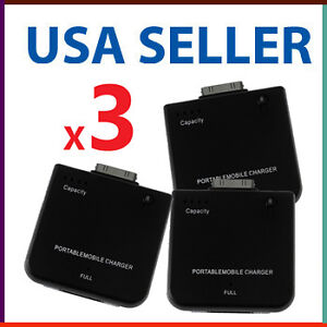 3-Incredible-iPhone-iPod-Ultrapower-Portable-Backup-Battery-Charger-Lot-of-Three