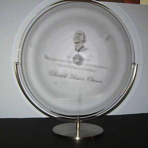 NEW in BOX STEUBEN glass PRESIDENT BARACK OBAMA COMMEMORATIVE LTD ED ornament