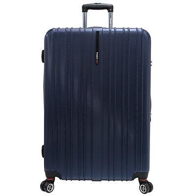 "Traveler's Choice Navy 29"" Tasmania Pure Polycarbonate Spinner Luggage Suitcase"