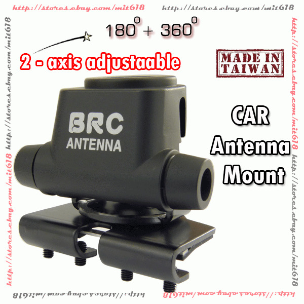 B200 Black Mount for CB HAM Radio car Mobile Antenna Trunk LID Hatchback door