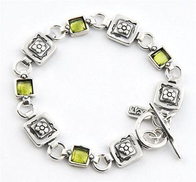B00372PR SHABLOOL ISRAEL Didae Handcrafted Peridot Sterling Silver 925 Bracelet