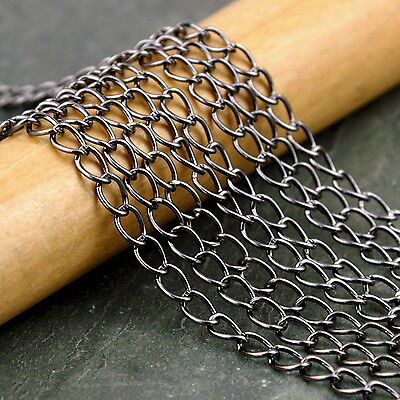 4x2mm Gunmetal Black Plated Link Chains c210c (5ft)