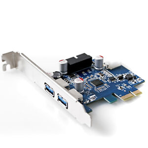 PCI-E-USB-3-0-NEC-D720201-Chipset-2-port-20-Pin-Connector-Control-Card-Adapter